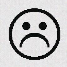 Pointseller Sad (Large) Needlepoint Canvas - $82.00