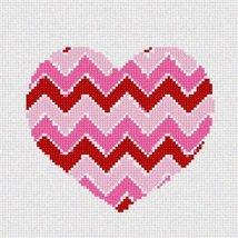 Heart Chevron Needlepoint Kit - $53.50