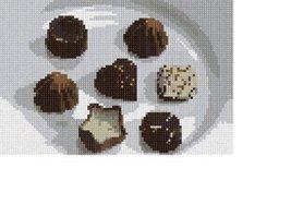pepita Chocolate Truffles Needlepoint Canvas - $45.00