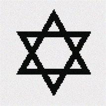 Pointseller Jewish Star Needlepoint Canvas - $19.95