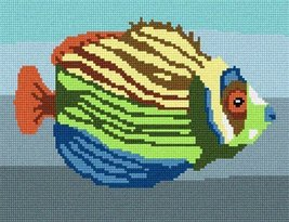 pepita Tropical Fish 3 Needlepoint Canvas - $40.00