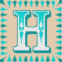 pepita Letter H Needlepoint Canvas - $40.00