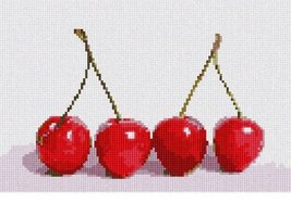 pepita Cherries Needlepoint Canvas - $50.00
