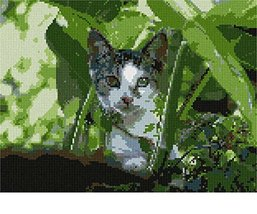 Cat Peeking Needlepoint Canvas - $93.00