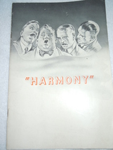 Vintage Harmony Barbershop Song Book - $6.99