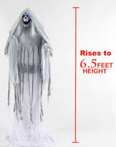 Life Size Animated Talking-RISING PHANTOM-Demon Reaper Haunted House Hor... - $227.67