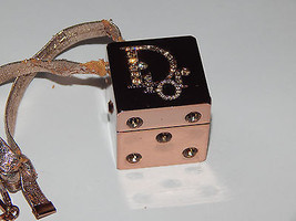 DIOR **SUMMER PLAY** Rose Gold Dice Lip Gloss Container Swarovski Encrusted  - $50.50