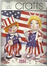"Simplicity Craft Pattern-Shirley Botsford-22 1/2"" Baby Liberty & Clothes - $5.86"