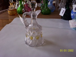 Vintage Pioneer Glass Co. Color Stained Pioneer #21 Cruet - $74.25