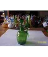 Green Hand Painted Tri Corner Cruet - $29.70