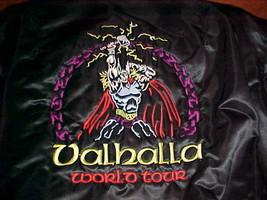 Game Heavy Metal Viking Valhalla World Tour Full Zip Stitch Black Nylon ... - $193.05