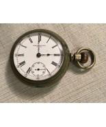 c1900 The New Era New York Standard Watch Company Pocket Watch Train Loc... - $222.74