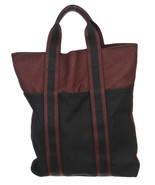 Hermes Burgundy and Black Toile Vertical Fourre... - $455.00