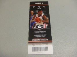 Presbyterian College vs Georgia Bulldogs (12-30-2007) Basketball Ticket ... - $3.12