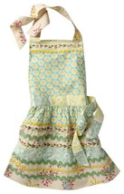 Anthropologie Sewing Basket Apron Cotton Print Front Pockets Tie Neck Wh... - £49.63 GBP