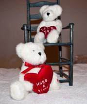 Boyds Bears Ido Loveya And White Bear With Red Heart Plush Bears - $18.49