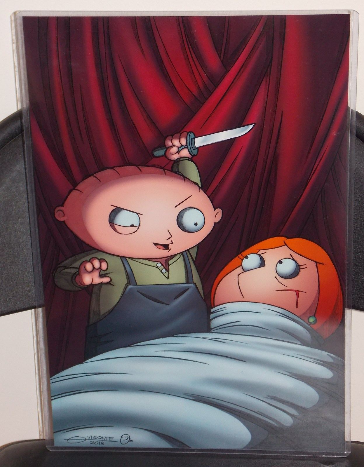 Primary image for Family Guy Stewie Glossy Print 11 x 17 In Hard Plastic Sleeve