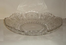 New Martinsville Glass Prelude Pattern Stunning Large Bowl - $19.00