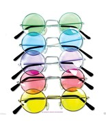 John Lennon Sunglasses Round Hippie Retro Shades  Colored Lenses Free Sh... - $9.89