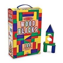 Melissa and Doug 100 Wood Blocks Set, Ages 3+ 1 ea - $36.09