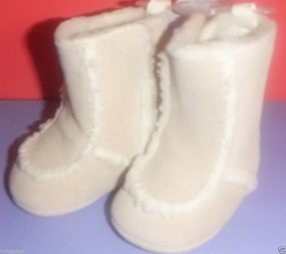 NWT BABY DEER Suede Fur Infant Toddler Girl Boots Shoes Sizes 0 & 2 0-12 Months