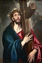 Christ carrying the cross by Greco by El Greco - Art Print - $19.99+
