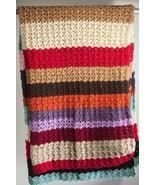 "66"" x 47"" Homemade Afghan Multi Color Blanket - $25.65"