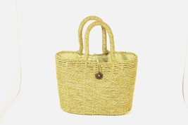 Sturdy Strong Woven Straw Tote Cloth Lining with Sturdy Handles s3 - $14.24