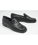 Black Cole Haan Country Woven Weave Loafer Rubber Soles Womens Sz. 7.5 B - $39.90