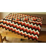 "Heavy Handmade Crochet Afghan Throw Blanket Fall Colors  63""x44.5"" (5'3""... - $93.10"