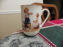 Norman Rockwell Set of 5 Coffee/Tea Cups/Mugs - Saturday Evening Post Sc... - $16.13