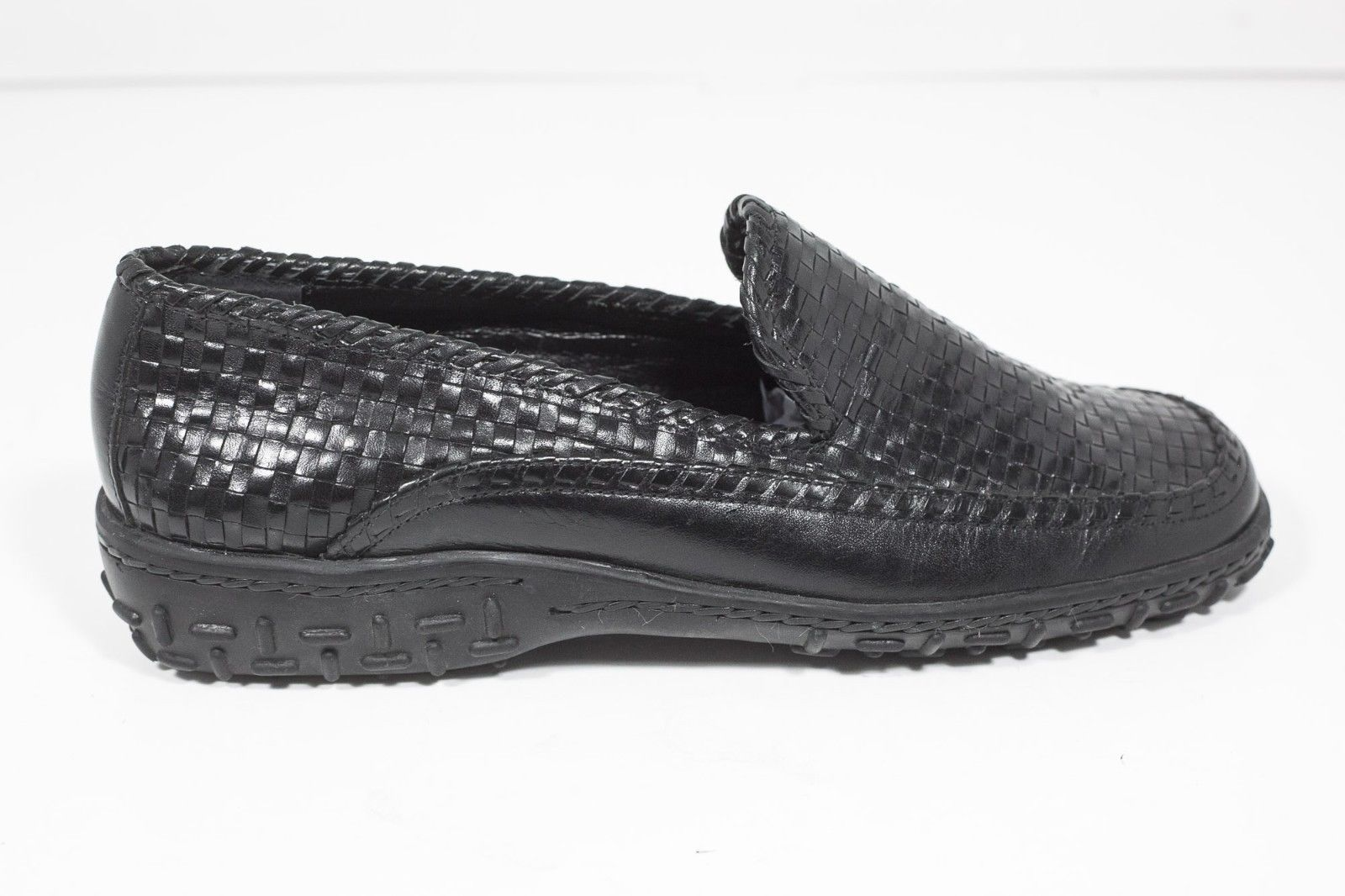Black Cole Haan Country Woven Weave Loafer Rubber Soles Womens Sz. 7.5 B