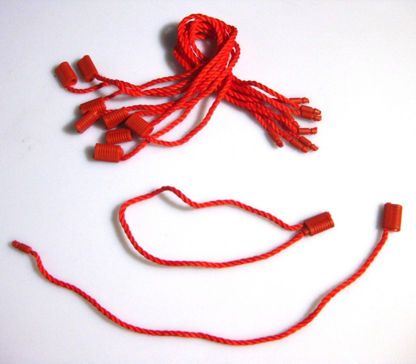"""7/"""" 2000 Pcs BLUE Hang Tag Nylon String FLAT Head Snap Lock Loop Fastener Ties"""