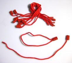 """7"""" 100 Pcs RED Hang Tags String Snap Lock Seal Tags Pin Loop Fastener Ho... - $10.46"""