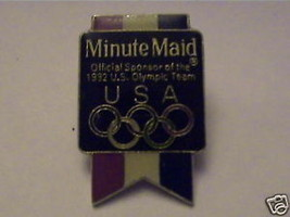 MINUTE MAID OFFICIAL SPONCOR 92 OLYMPICS GAMES VTG  PIN - $14.25