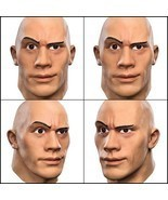 WWE The Rock Dwayne Johnson LATEX Mask Halloween Mask Party Costume Late... - €33,17 EUR