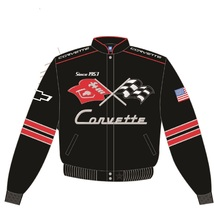 JH Design Chevy Corvette Cotton Twill Jacket - $129.95