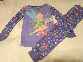 Disney Store Tinker Bell 2 Piece Snug Fitting Pajama Set for Girls Sz 5/6 - $24.99