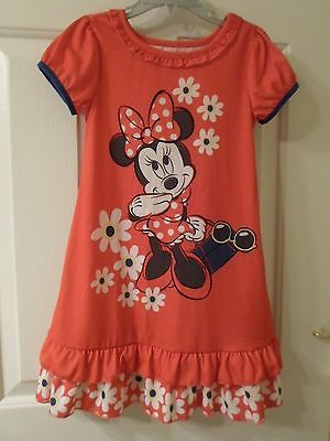 Primary image for Disney Store Minnie Mouse Flowered Nightshirt Sz 4T