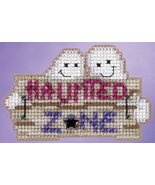 CLEARANCE Haunted Zone Autumn Harvest 2015 ornament kit cross stitch Mil... - $4.50