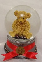 Teddy Bear Snow Globe Waterglobe Sagamore Hill ... - $34.73