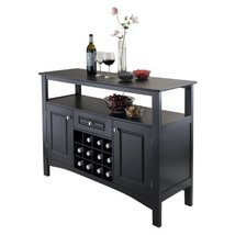 Wine Cabinet Storage Wood Buffet Furniture Kitchen Display Shelf Coffee... - €210,39 EUR