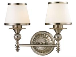 Elk Lighting Smithfield Collection 2 Bath Light, Brushed Nickel Bathroom... - $235.12