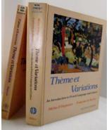 Theme et Variations 1981 Intro French Language, Hagawara, de Rocher - $15.00