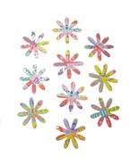 Die Cuts Flowers Multi Color Blossoms 10 Pk - $1.85