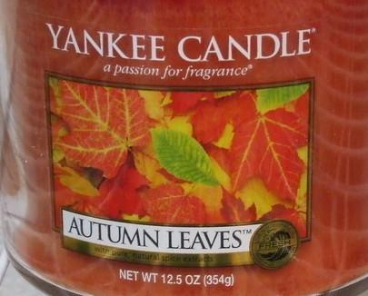 Yankee Candle New Autumn Leaves Medium Jar Candle 12.5 oz