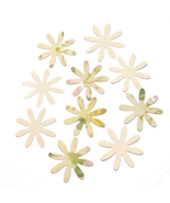 Die Cuts Flowers Beige Green Pink Blossoms 10 Pk - $1.85