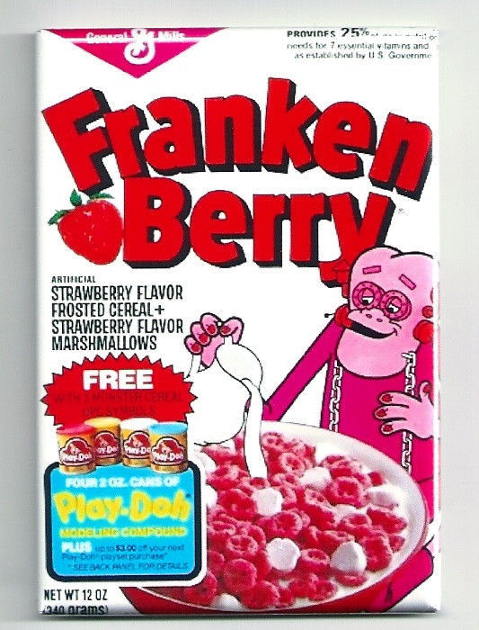 Franken Berry Cereal Magnet Vintage Monster Cereal Box Frankenberry
