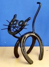 Horseshoe Kitty Genuine Western Decor Sculpture Art Paper Weight - $24.99
