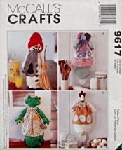 """McCall's 9617 610 Snowman Susan S. Bonnet Frog Chicken 18"""" Bag Holder Pattern - $14.99"""